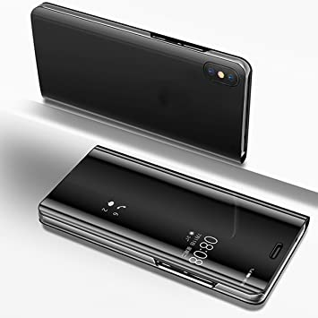 super popular 3437e 15510 Uposao Case for Huawei P20 Lite, Mirror Flip Case for Huawei P20 Lite,  Luxury Mirror Smart Clear View Hard Back Case Cover Electroplating  Technology ...