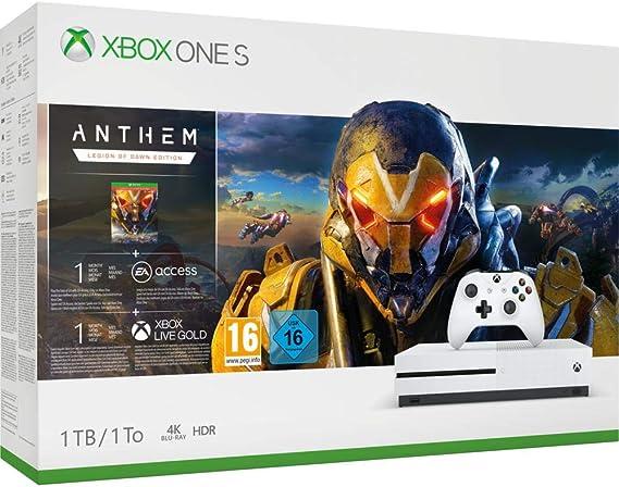 Microsoft Xbox One S - Consola 1 TB + Anthem: Legión Del Alba - Edición Especial: Microsoft: Amazon.es: Videojuegos