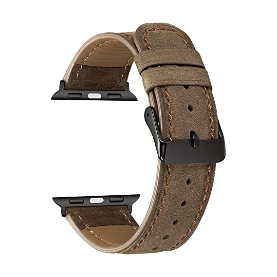 Amazon.com : XBKPLO Compatible for Apple Watch Band Series 4 38mm 40mm, Business Leather Strap Bracelet Series 4/3/2/1 Replacement for iWatch Cuff : Pet ...
