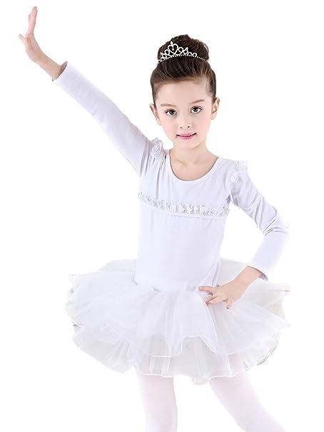8c80b20bb Happy cherry - Falda Vestido Tutú de Danza Ballet Infantil para Niñas  Leotarto Clásico con Calcetiens