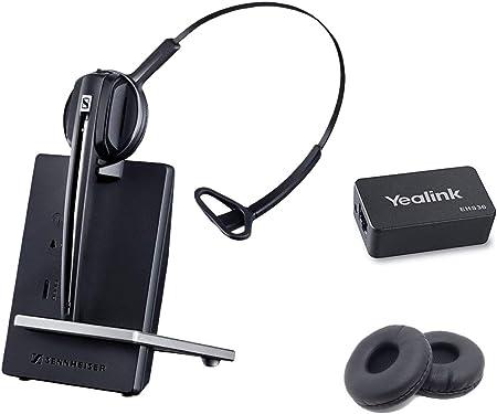 Global Teck Set Mit Sennheiser D10 Wireless Headset Für Yealink Telefone Ehs Und Kissen Enthalten Kompatible Modelle