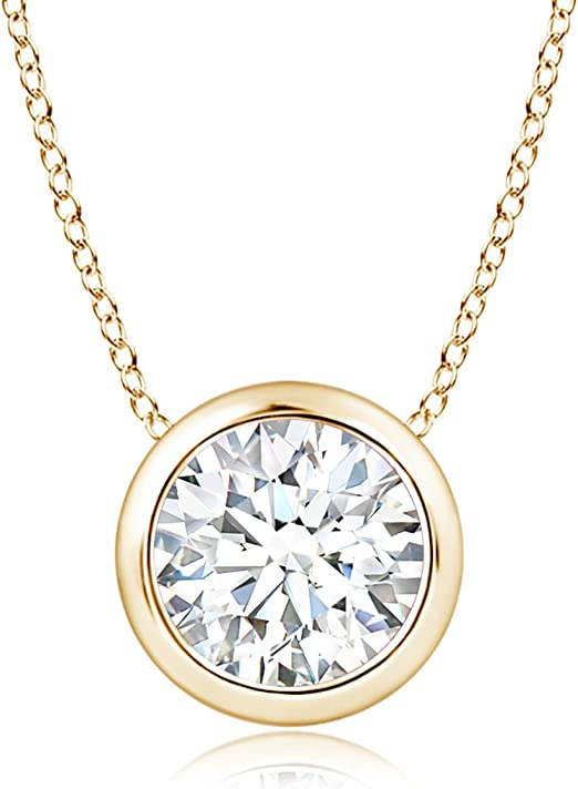 Silvercartvila 0.86 Ct Lab Created Diamond Cascading Pendant With 18 Chain In 14K White Gold Plated .925