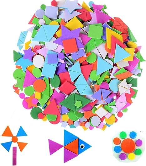 Geometric Shapes Circle Triangle square Self Adhesive Peel Off Sticker Stick On