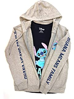 Disney Juniors Lilo and Stitch Ohana Means Family Full Zip Hoodie and T-Shirt Set