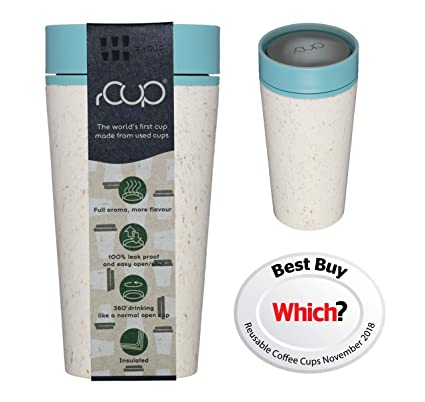8727ed407d rCup - World's first reusable cup made from recycled cups (White - Teal  Blue)