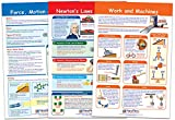 NewPath Learning 94-3504 Force and Motion Bulletin Board Chart Set (Pack of 3)