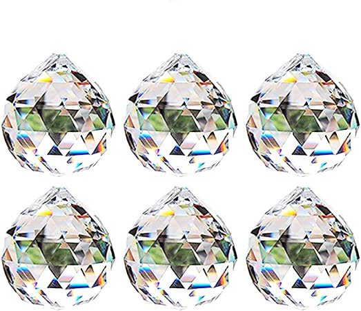Cadeaux Boule de Cristal Décoration Verre à Facettes Lustre Suspendu Pendentif