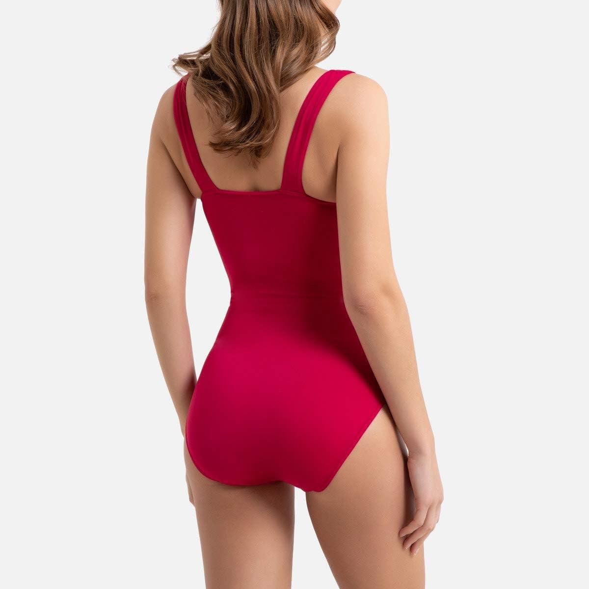 La Redoute Womens Bodyshaping Draped Padded Swimsuit