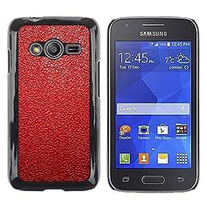 Estuche Cubierta Shell Smartphone estuche protector duro para el teléfono móvil Caso Samsung Galaxy Ace 4 G313 SM-G313F / CECELL Phone case / / Red Leather Pattern /