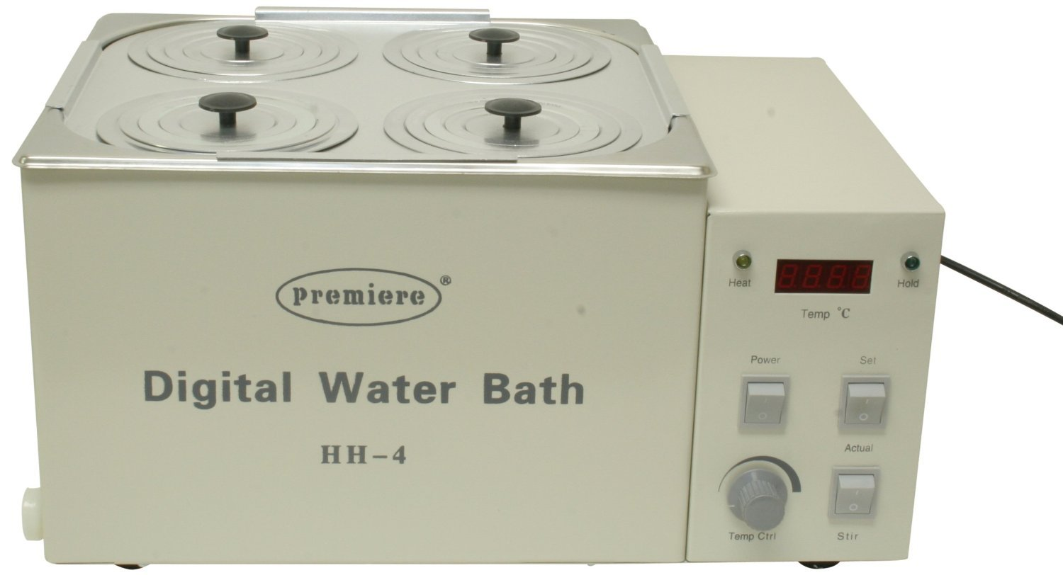 Premiere HH-4 Digital Water Bath, 4 Wells Capacity by C & A Scientific - Premiere