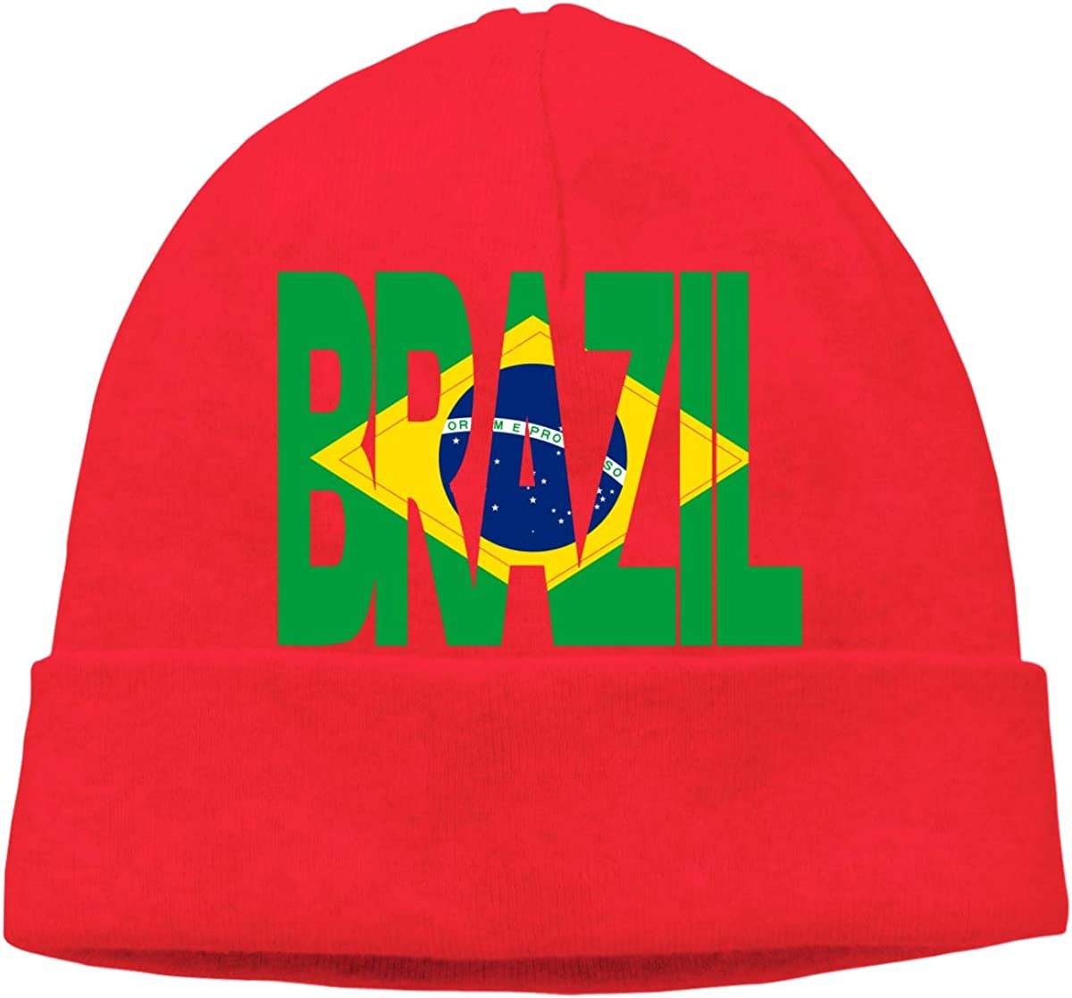 COLLJL8 Men /& Women Brazil Text with Map Outdoor Fashion Beanies Hat Soft Winter Skull Caps