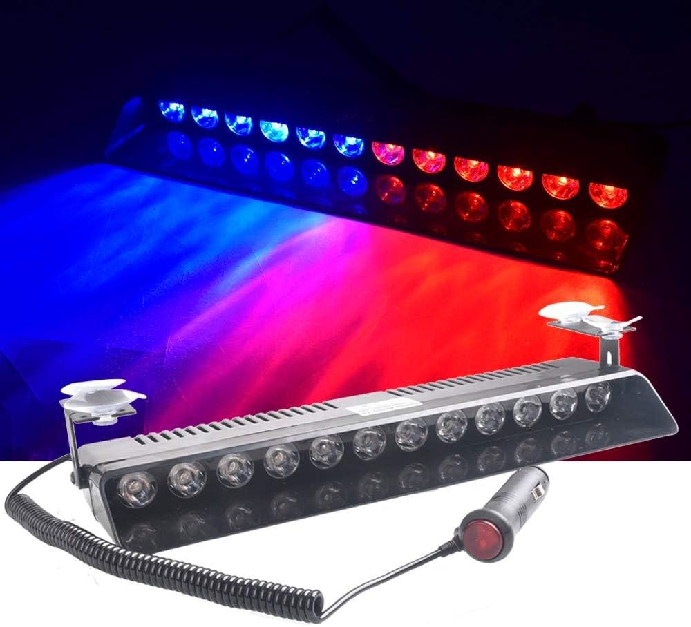 12 LED Strobe Light Flash Warning Indicator Suction Cup Emergency Singal Light