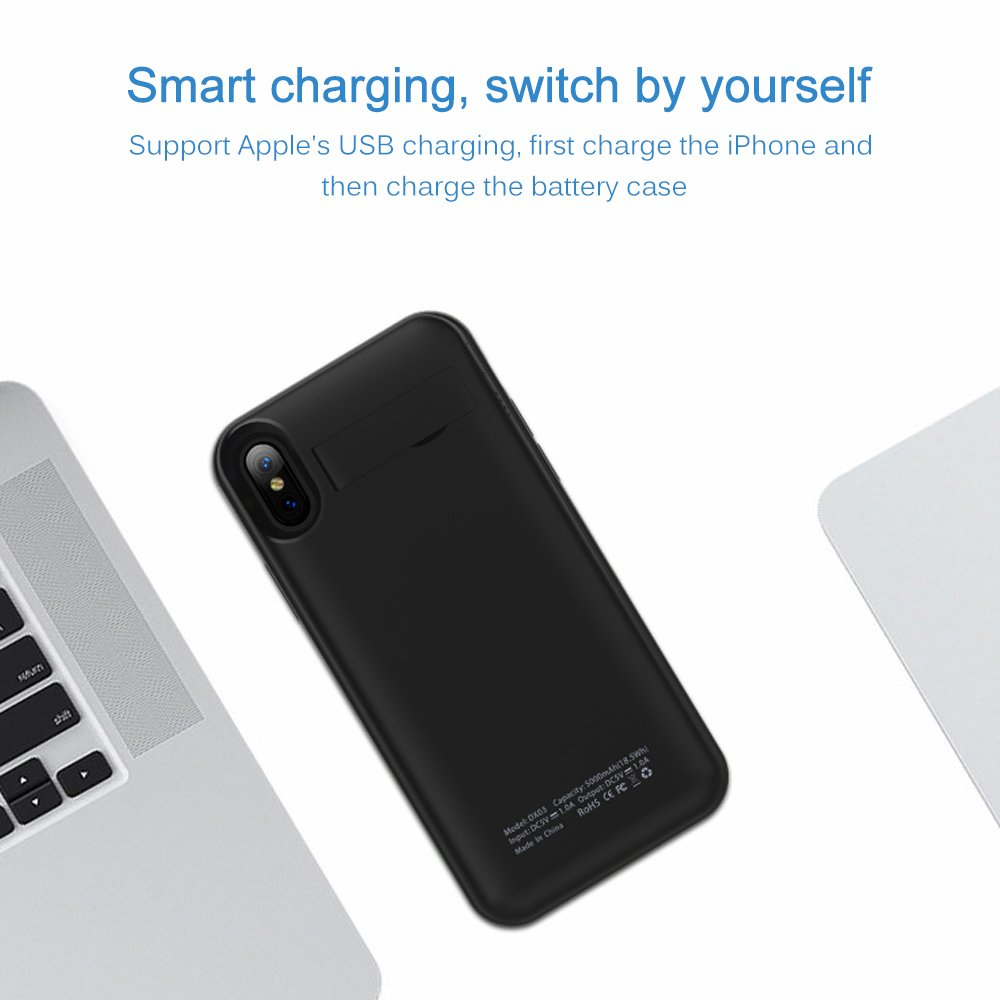 New Battery Case for iPhone X, Mbuynow 4200mAH Portable Charging Case for iPhone X External Rechargeable Charger Case Protective Power Charger