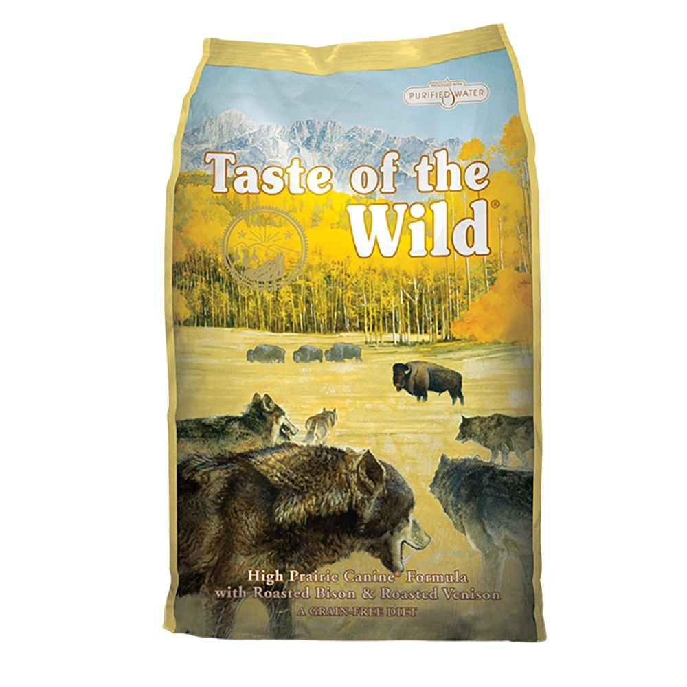 5.Taste of the Wild High Prairie Grain-Free Dry Dog Food with Roasted Bison and Venison