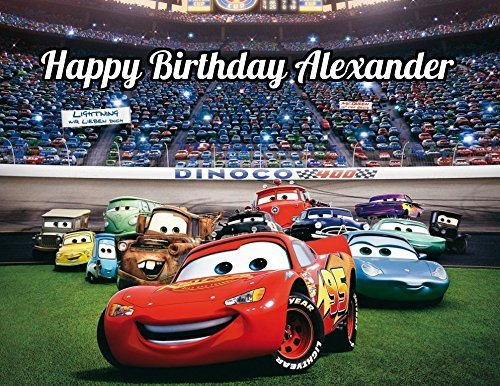Pixar Cars Edible Image Photo Cake Topper Sheet Personalized Custom Customized Birthday Party - 1/4 Sheet - 78868