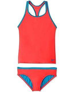 d822ba504feb0 Amazon.com: Nike Kids Girl's Solid Racerback Sport Tankini Set ...