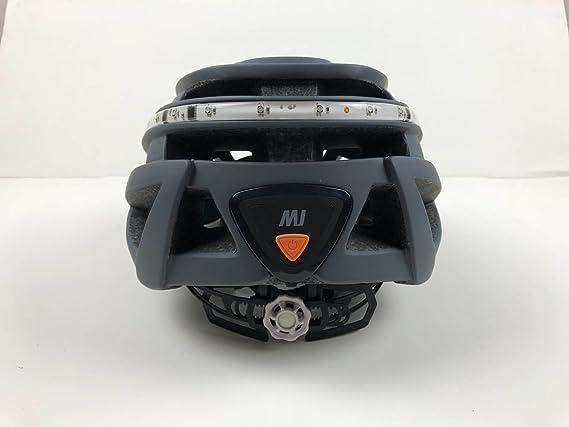 SLANIGIRO - Casco de ciclismo para hombre y mujer, 23 rejillas de ventilación, certificado CE, CPSC, con rayas reflectantes, esfera ajustable recargable LED ...