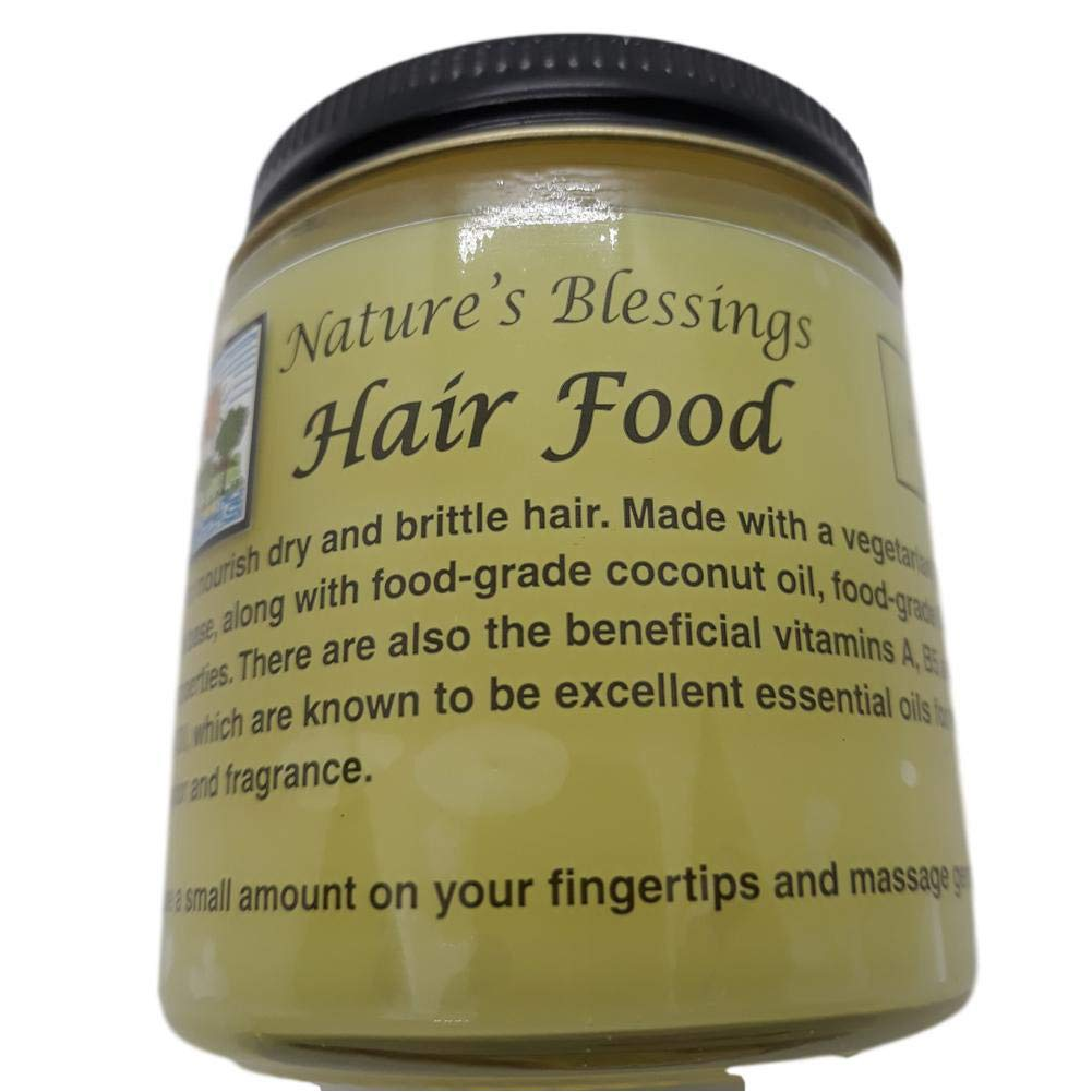 Nature's Blessing Hair Food Vegetarian Formula for Dry Brittle Hair (All Natural Ingredients)