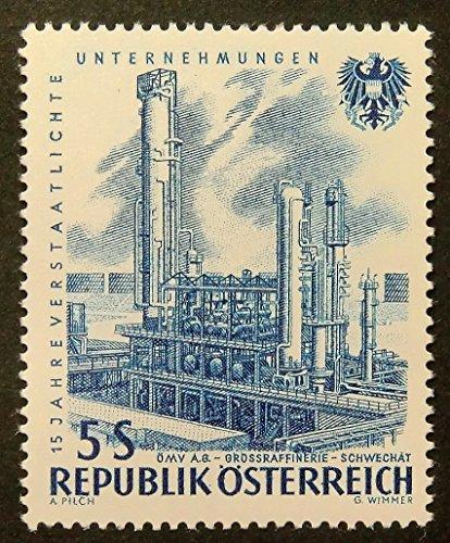 omv-ab-grossraffinerie-schwechat-austria-framed-postage-stamp-art-15771