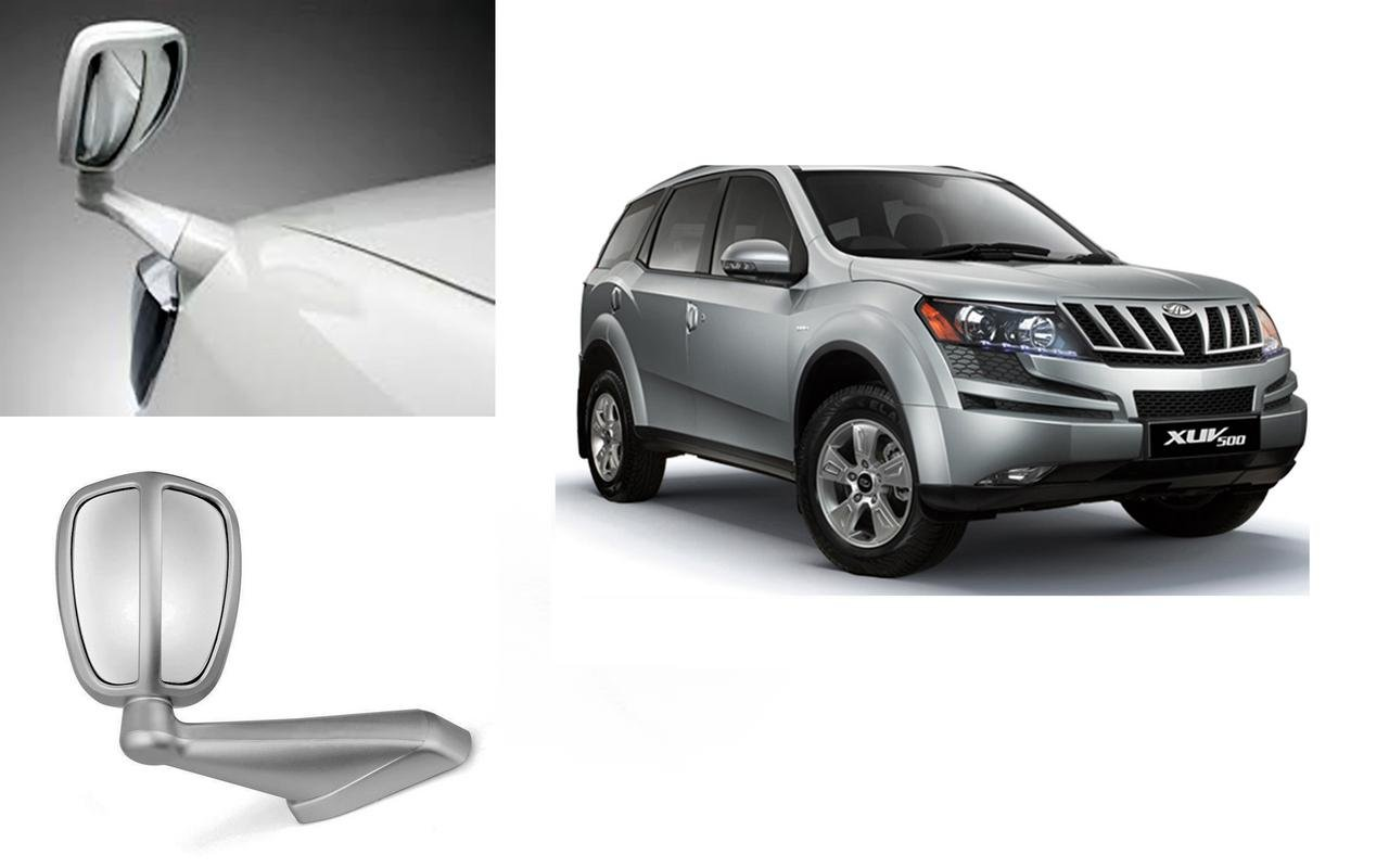 Autopearl Car Bonnet Mirror For Mahindra Xuv 500 Silver Amazon In