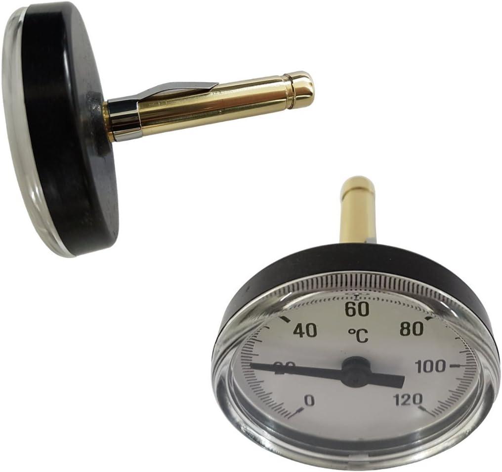 Bimetall Thermometer Für Warmwasserspeicher Sanitär Industriebereich Usw Baumarkt