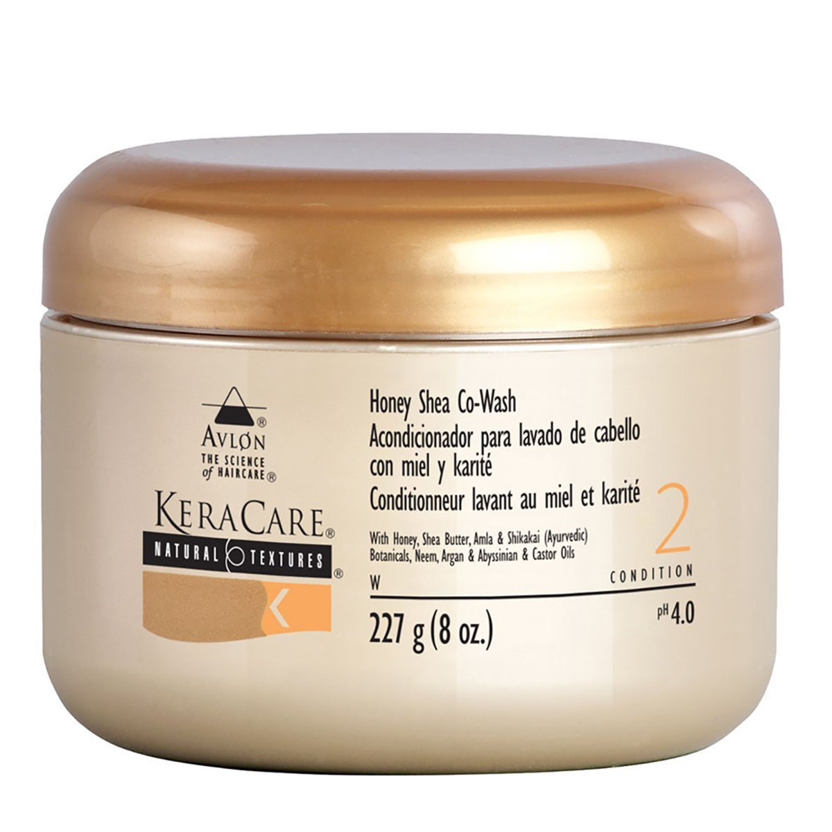 Avlon Keracare Natural Textures Honey Shea Co-Wash -Size 8 oz
