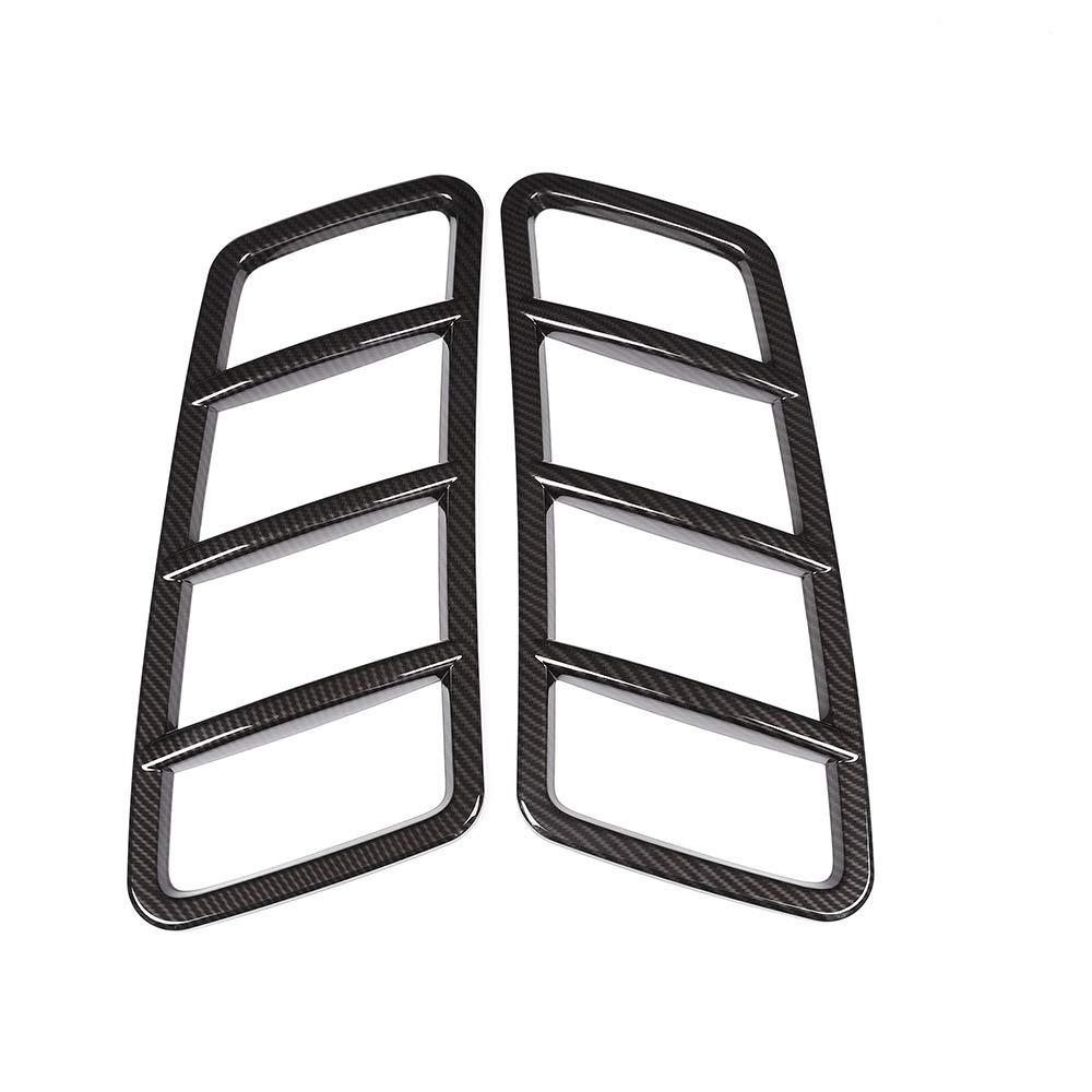 2 X Carbon Fiber Style ABS Air Vent Frame Trim For Benz ML GLE GL GLS Class W166 Accessories DIYUCAR