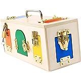 MagiDeal Creative Montessori Colorful Lock Box Kids Educational Preschool Training Toys