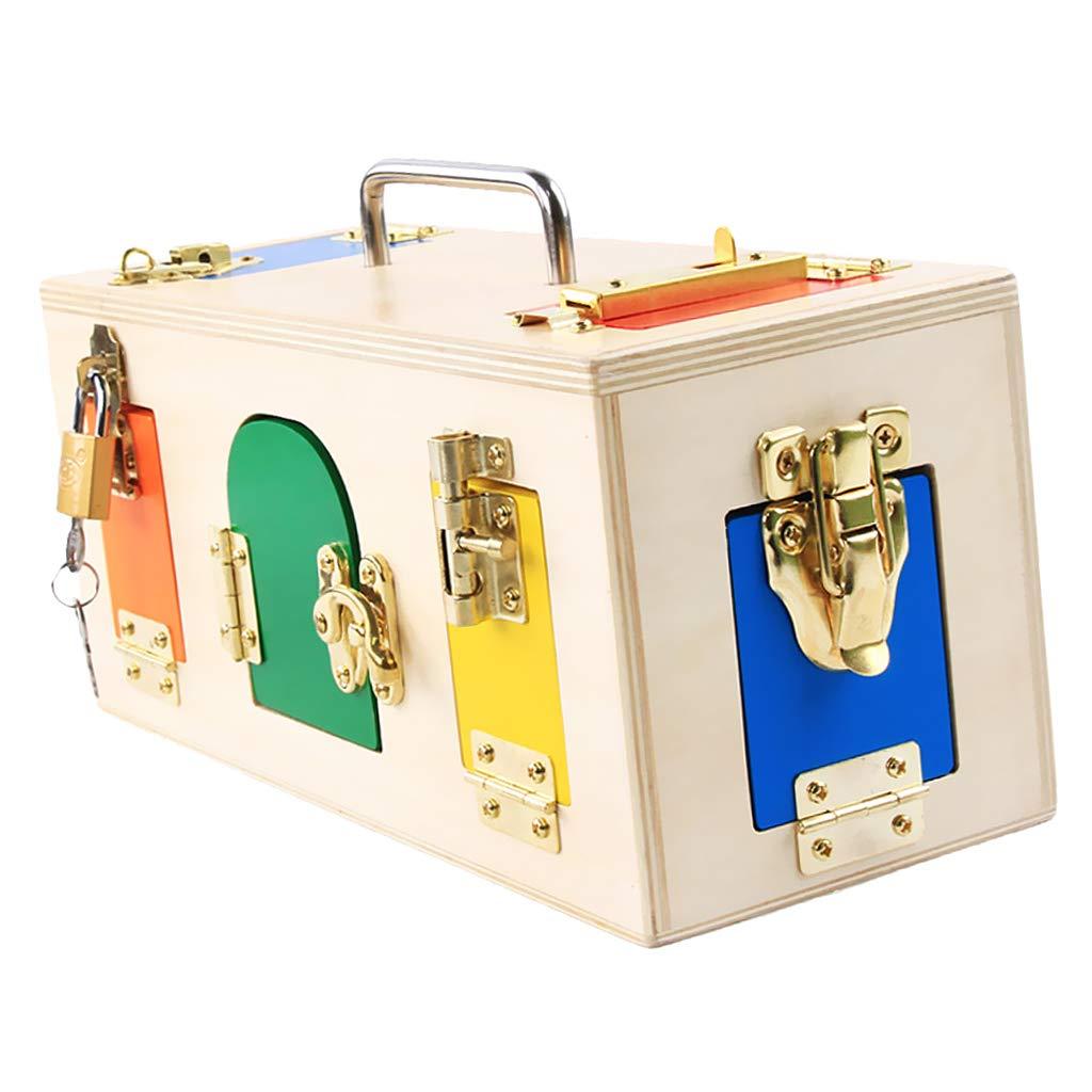 MagiDeal Montessori Caja de Bloques de Colores, Caja de Cerradura ...