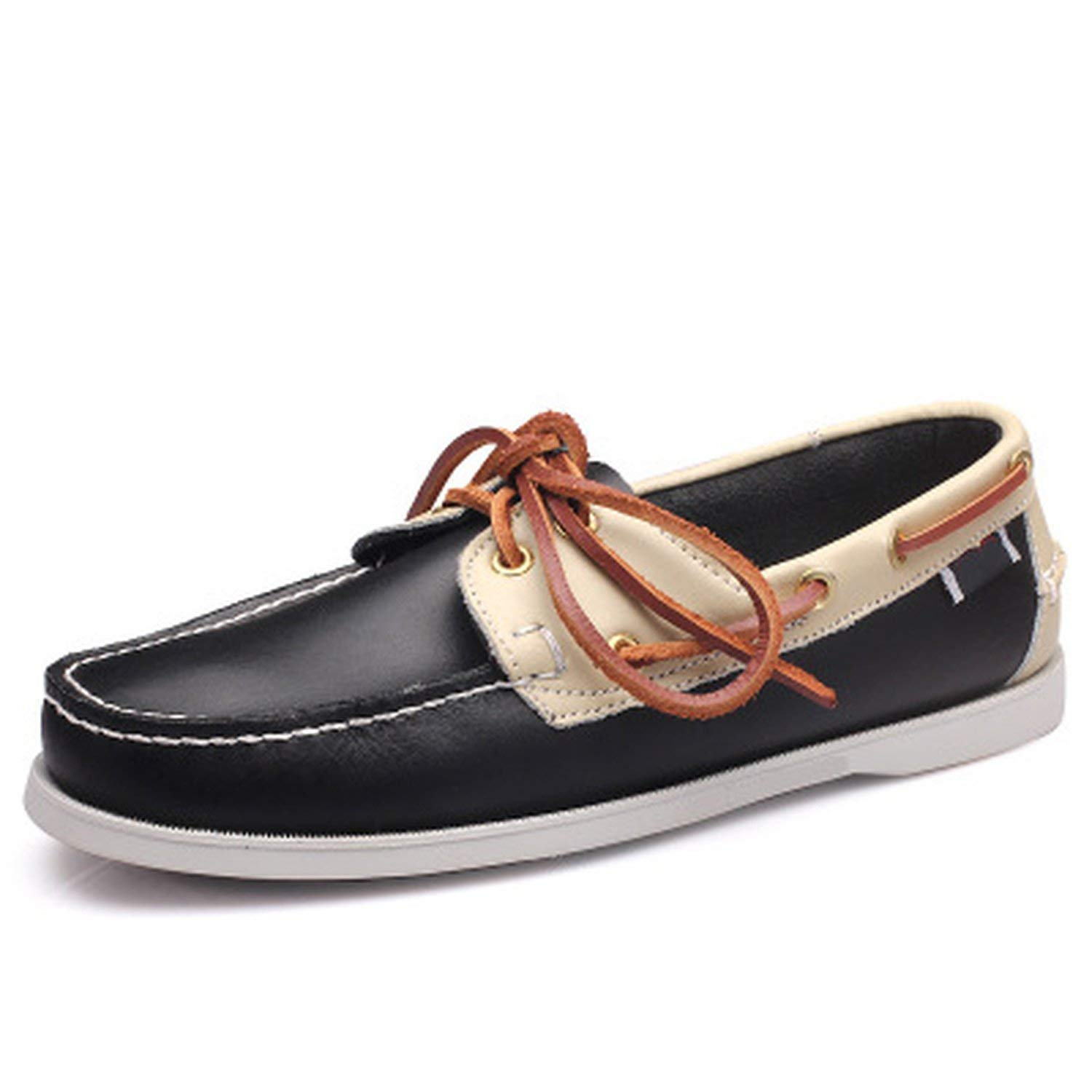 Men Casual Shoes Tassel Boat Shoes Classic Loafers Slip On Gray Driving Shoes Flats,Black Beige,10 by Just XiaoZhouZhou