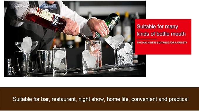 MQUPIN Bartender - Vaso medidor doble de acero inoxidable y ...