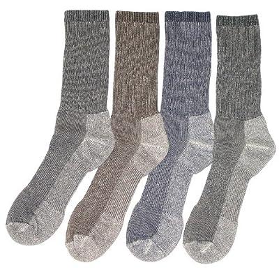 4 Paris de chaussette de marche pour homme ou femme en mérino - large