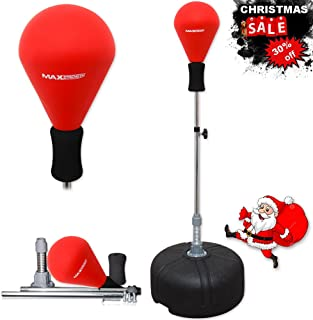 Max Strength ¨ Free Standing Boxing Punch Bag Speed ball Height Adjustable Sparring Punching Training. (Punch ball Red)