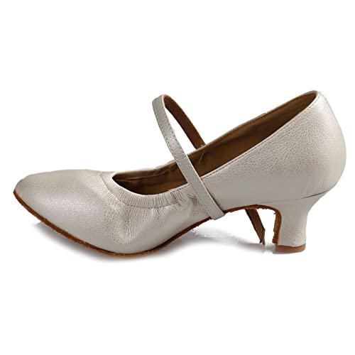 YKXLM Mujeres&Niña Zapatos latinos de baile Zapatillas de baile de salón Salsa Tango Performance Calzado de