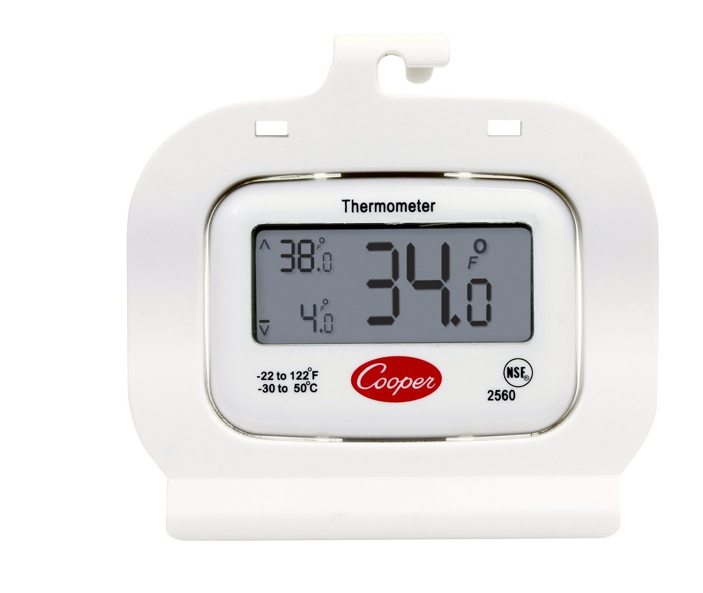 Cooper-Atkins 2560 Digital Thermometer, Refrigerator/Freezer, NSF -22 Degree F/122 Degree C