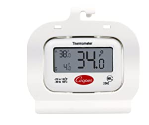 Cooper-Atkins 2560 Digital Freezer Thermometer, Digital Refrigerator Thermometer (Cold Storage Thermometer, Digital Display, Temperature Memory)