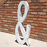 Cheap HUGE 40″ LETTERS – Rustic Metal Vintage Style Marquee Letter Sign – 14 COLOR OPTIONS! (&)