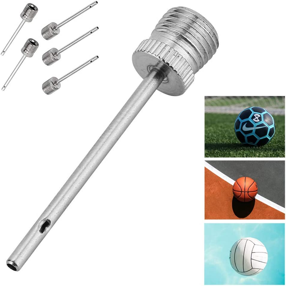 Ball Inflator Inflating Hand Air Pump For Football Soccer Basketball Needle Tool