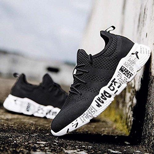 Scarpe da Unisex Anti A Challenge Sportive Rotonda Slittamento Scarpe Scarpe Sneakers Uomo Uomo Nero da da Corsa Ginnastica Punta pqxgEI