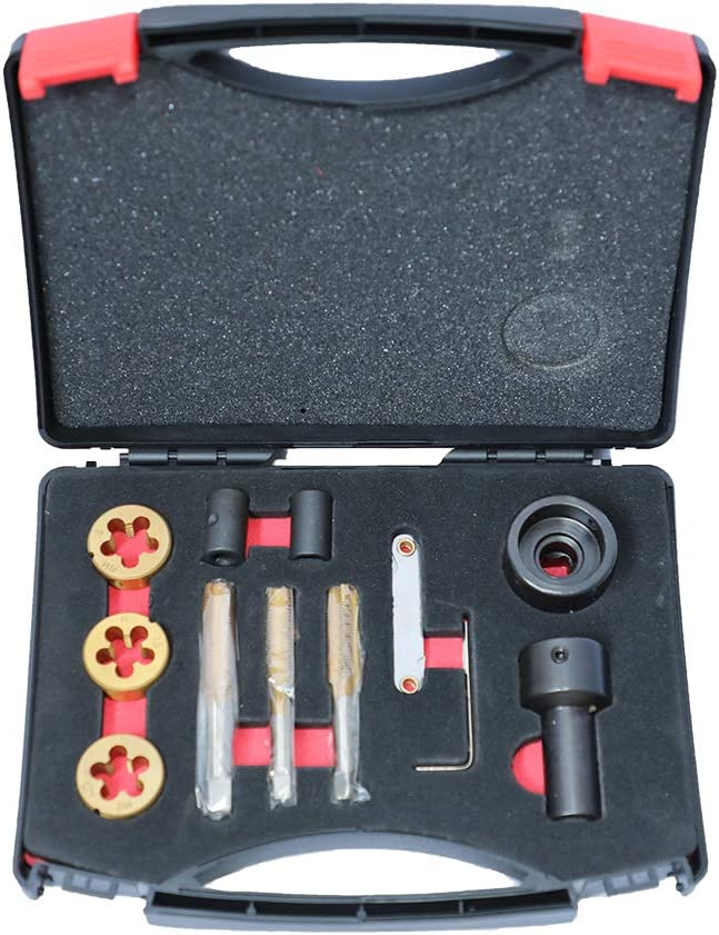 12PCS Thread Repair Tool Kit ourantools Metric Tap and Die-Set for Wheel Studs /& Nuts with Storage Case M12x1.25 M12x1.5 M14x1.5