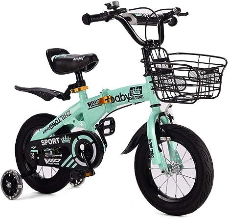 FYYTRL Infantil Plegable del Peso Ligero de la Bicicleta, niño y ...