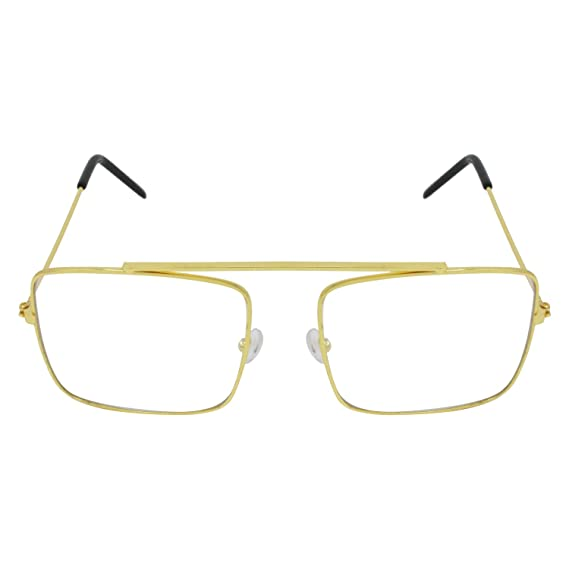 a04591018f Aligatorr Raees Full Gold Frame ARC Unisex Sunglass and Spectacle  (ATTR