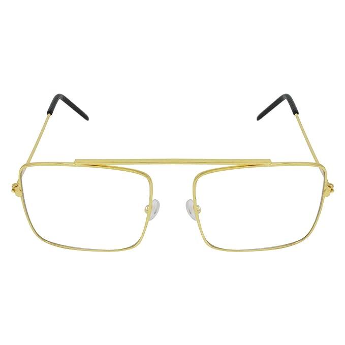 c854d2088e0 Aligatorr Zero Refractive Square Unisex Sunglasses (White)  Amazon.in   Clothing   Accessories