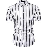 MEIbax Camisa Casual de los Hombres Temperamento a