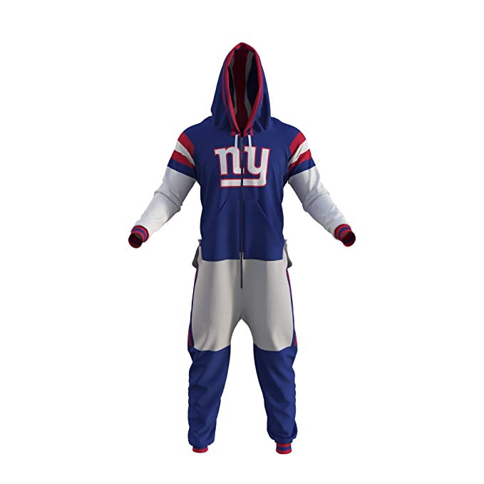 check out f8da2 4a07d New York Giants NFL Adult Onesie by Sportsedo The Makers of Hockey Sockey