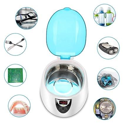 750ml Esterilizador de Uñas Profesional, Limpiador de Ultrasónicas, Mini Máquina de Limpieza para Joyeria
