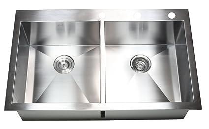 36 X 22 Double Bowl Kitchen Sink Amazon Com
