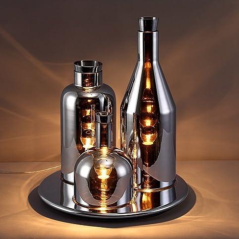Jinyuze modern triple light creative wine bottle table lamp round jinyuze modern triple light creative wine bottle table lamp round tray base chrome aloadofball Choice Image