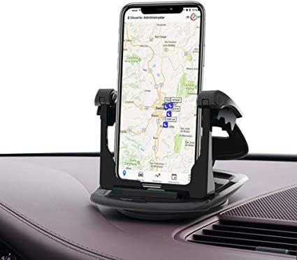 Car Phone Mount Cell Phone Holder for Car Silicone Car Phone Dashboard Pad Mat GPS Holder for Car Vehicle GPS Mount Universal Fit All Smartphones Compatible iPhone XS Max XR X 8 8+ 7 Samsung Galaxy