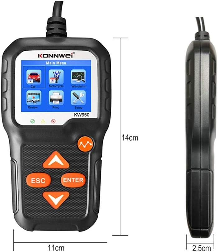KONNWEI Batterietester 12V Auto Batterie Ladetester an Kurbelsystem und Ladesystem Diagnose-Tester Batterietester Automobil f/ür PKW//SUV//Light Trucks